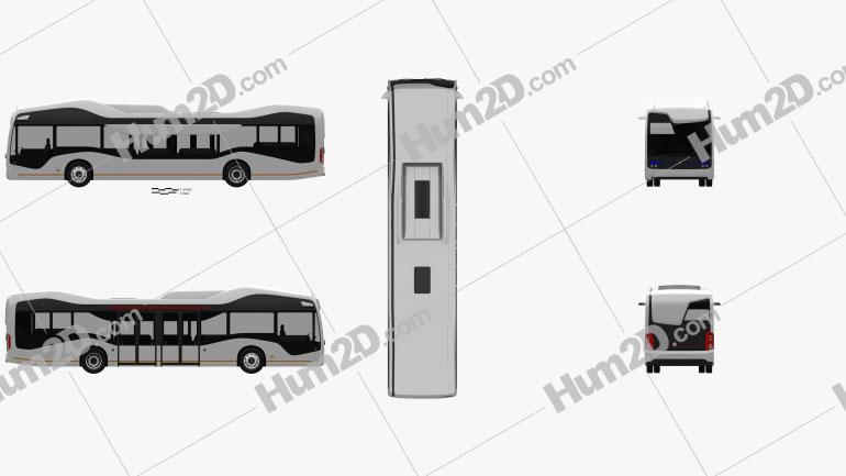 Mercedes-Benz Future Bus 2016 clipart