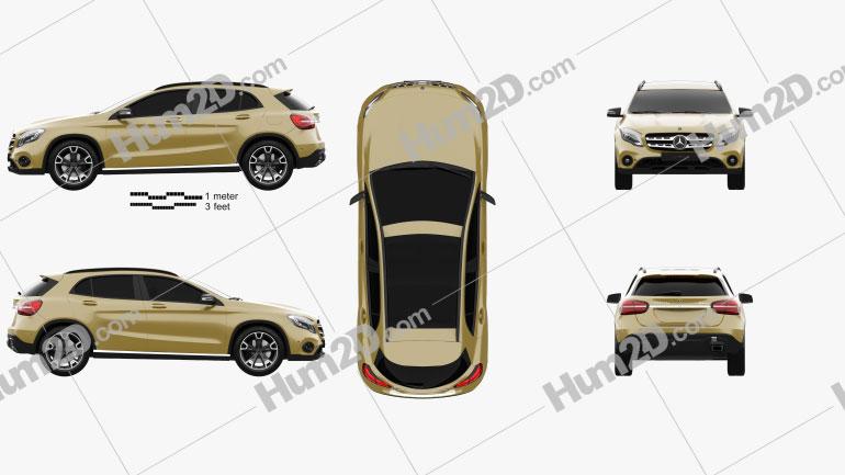 Mercedes-Benz GLA-Class (X156) 2017 Clipart Image
