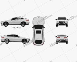 Mercedes-Benz GLC-Class (C253) Coupe S AMG 2017 car clipart