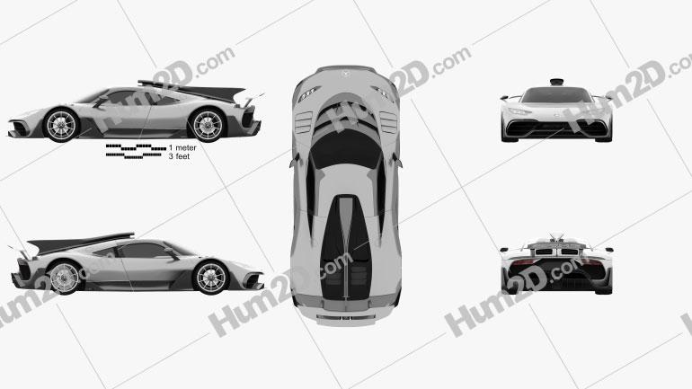 Mercedes-AMG Project ONE 2017 Imagem Clipart