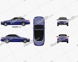 Mercedes-Benz C-class (A205) convertible AMG line 2016 car clipart