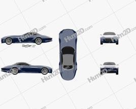 Mercedes-Benz Vision Maybach 6 Cabriolet 2017 car clipart