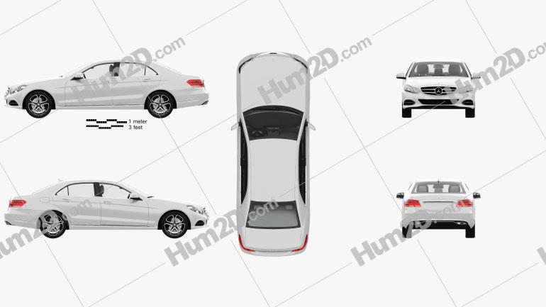 Mercedes-Benz Classe E (W212) sedan com interior HQ 2014 car clipart