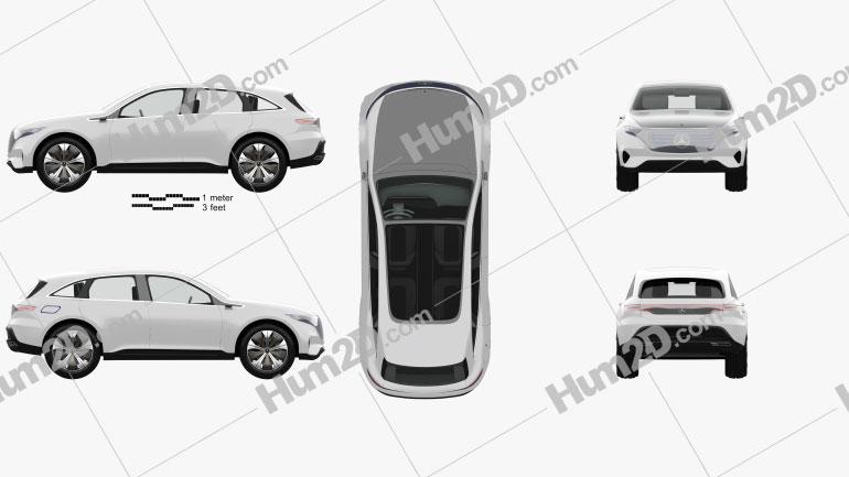 Mercedes-Benz EQ concept with HQ interior 2017 car clipart