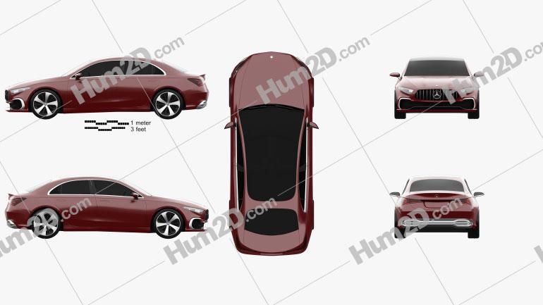 Mercedes-Benz A Sedan 2017 Clipart Image