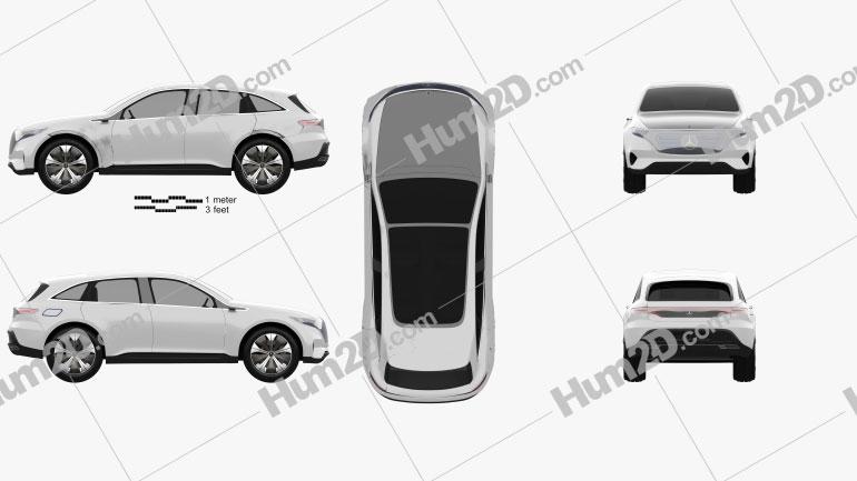 Mercedes-Benz EQ 2017 car clipart
