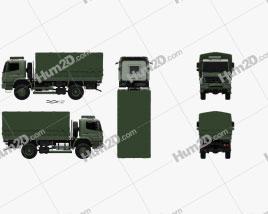 Mercedes-Benz Axor (1828A) Military Truck 2005