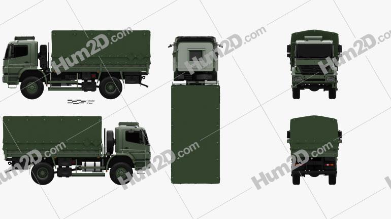 Mercedes-Benz Axor (1828A) Military Truck 2005 clipart