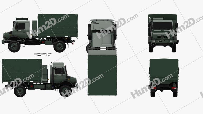 Mercedes-Benz Unimog U5000 Military Truck 2002 clipart