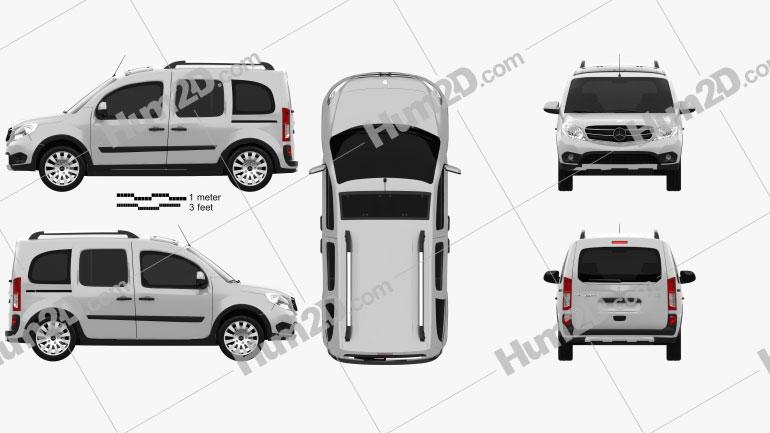 Mercedes-Benz Citan Tourer Off-Road 2016 clipart