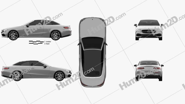 Mercedes-Benz E-class (A238) Cabriolet 2016 car clipart