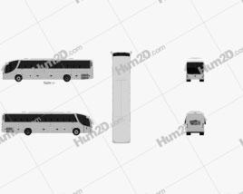 Mercedes-Benz B330 Bus 2015 clipart