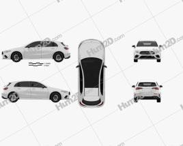 Mercedes-Benz A-class (W177) AMG Line 2018 car clipart