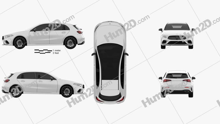 Mercedes-Benz Classe A (W177) AMG Line 2018 car clipart