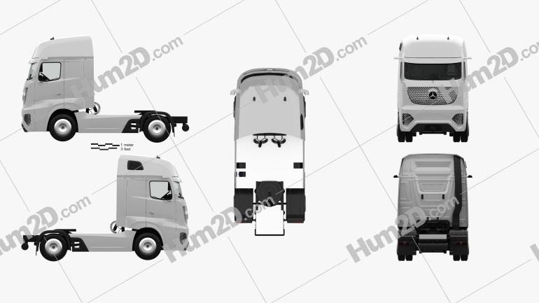 Mercedes-Benz Future Truck with HQ interior 2025 clipart
