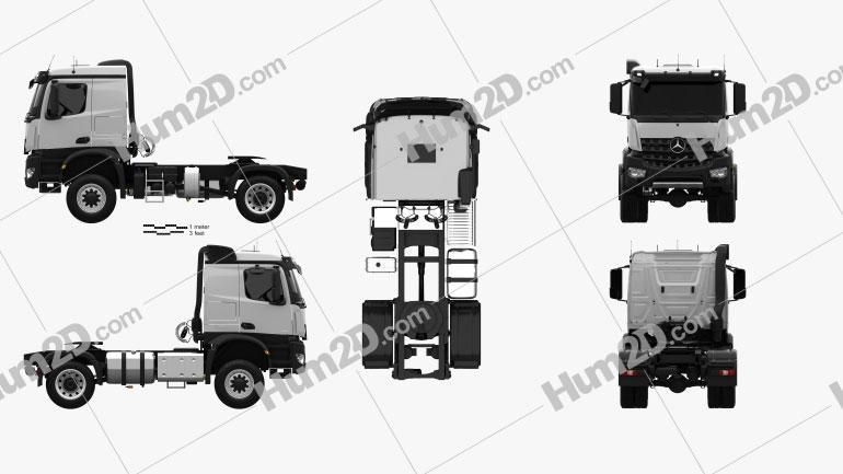 Mercedes-Benz Arocs Tractor Truck 2-axle 2013 clipart