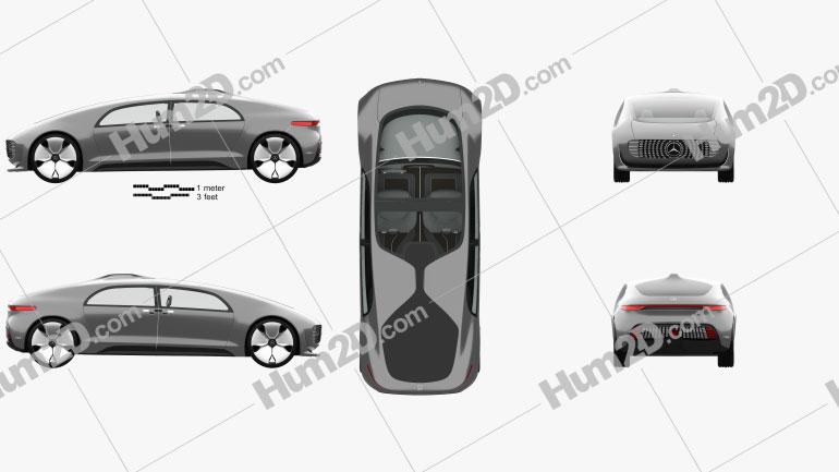 Mercedes-Benz F 015 mit HD Innenraum 2015 Clipart Bild