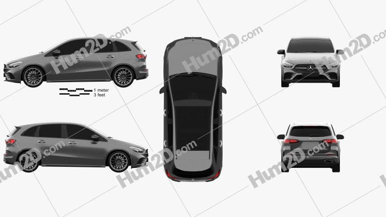 Mercedes-Benz B-Class (W247) AMG Line 2019 car clipart
