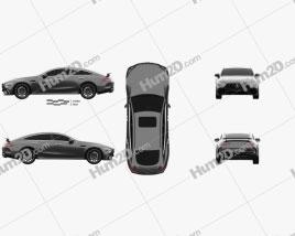 Mercedes-Benz AMG GT63 S 4-door coupe 2019 Clipart
