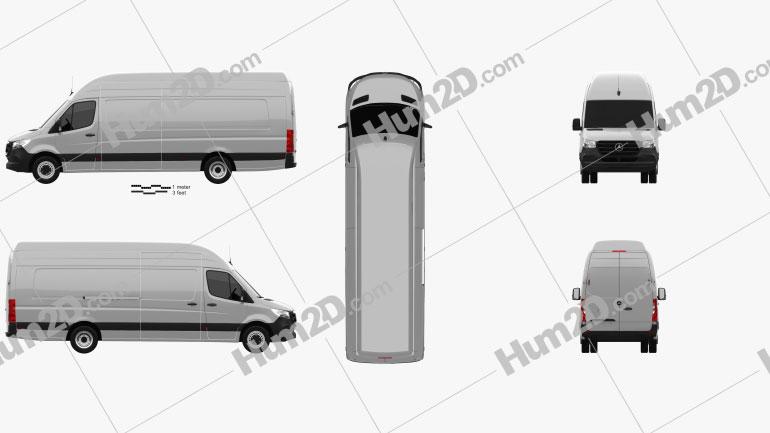 Mercedes-Benz Sprinter Panel Van L4H3 2019 clipart