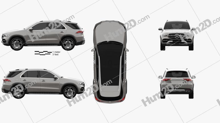 Mercedes-Benz Classe GLE 2019 car clipart