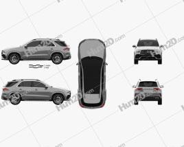 Mercedes-Benz GLE-class AMG Line 2019 Clipart