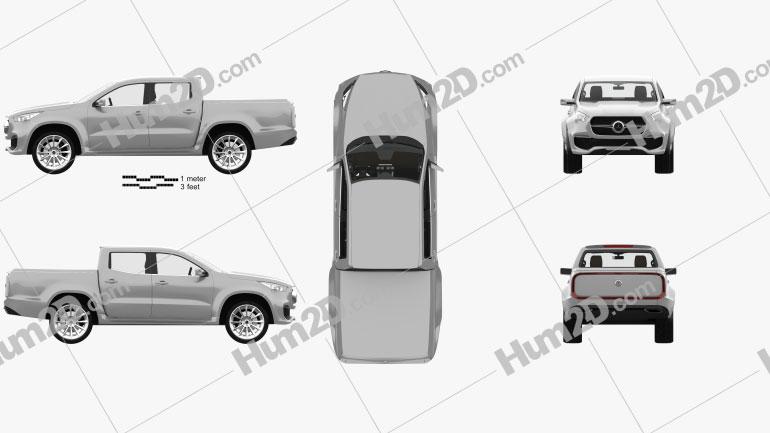 Mercedes-Benz X-class Stylish Explorer with HQ interior 2017 car clipart