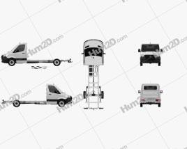 Mercedes-Benz Sprinter (W907) Cabina única Chassis L3 2019 clipart