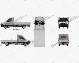 Mercedes-Benz Sprinter (W907) Single Cab Dropside L2 2019 clipart