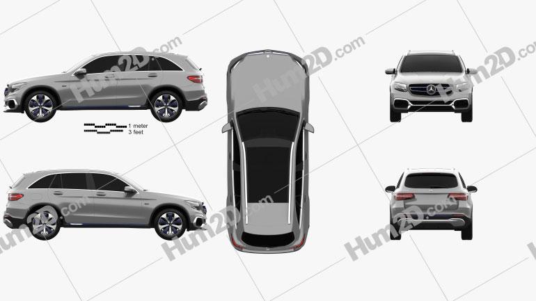 Mercedes-Benz GLC-class F-Cell 2019 Clipart Image