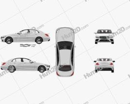 Mercedes-Benz C-Class AMG-line sedan with HQ interior 2018