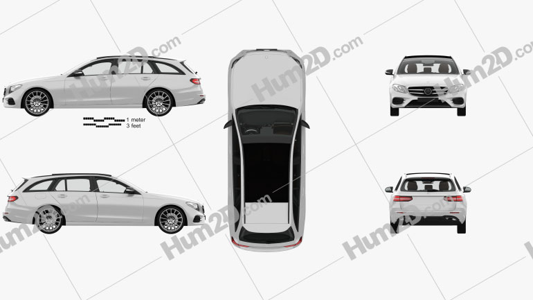 Mercedes-Benz Classe E AMG-Line estate com interior HQ 2016 car clipart