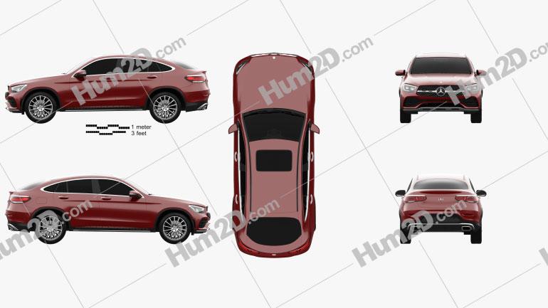 Mercedes-Benz GLC-class AMG-Line coupe 2019 car clipart