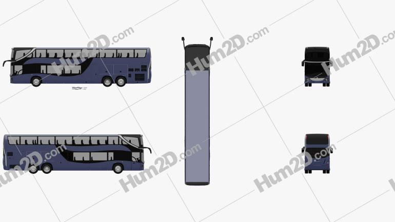 Mercedes-Benz MCV 800 Double-Decker Bus 2019 clipart