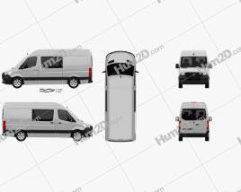 Mercedes-Benz Sprinter Crew Van L2H2 2019 clipart