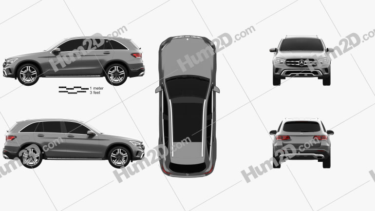 Mercedes-Benz GLC-class 2019 car clipart