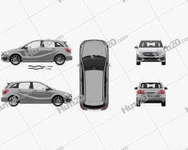 Mercedes-Benz B-class Urban Line com interior HQ 2014 car clipart