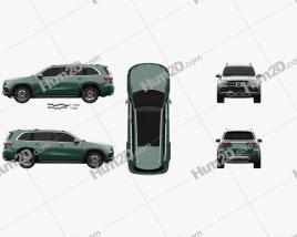 Mercedes-Benz Classe GLS 2019 car clipart