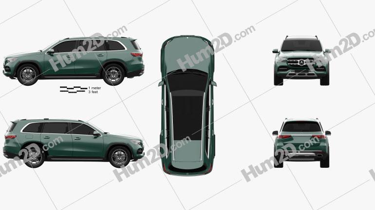 Mercedes-Benz GLS-class 2019 car clipart