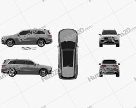 Mercedes-Benz GLS-class AMG-Line 2019 Clipart