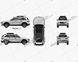 Mercedes-Benz GLB-class 2019 car clipart