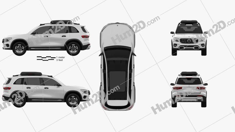 Mercedes-Benz GLB-Klasse 2019 car clipart