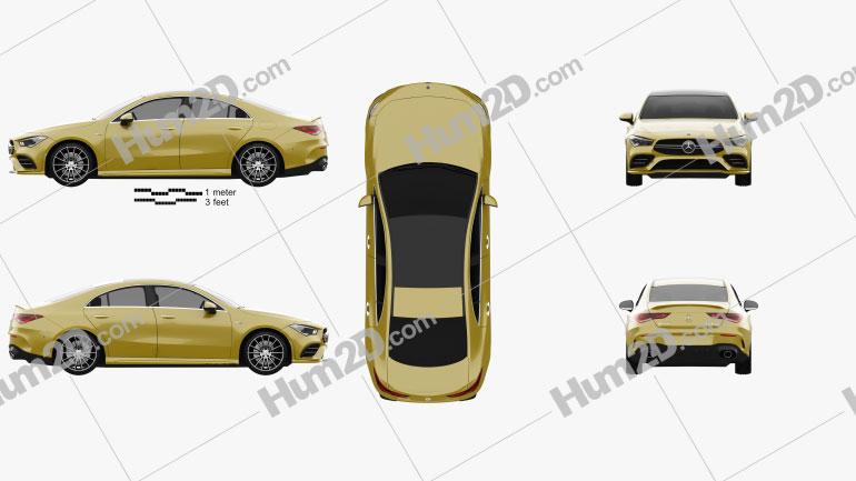 Mercedes-Benz CLA-class AMG 2019 Clipart Image
