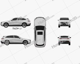 Mercedes-Benz EQC 2020 car clipart