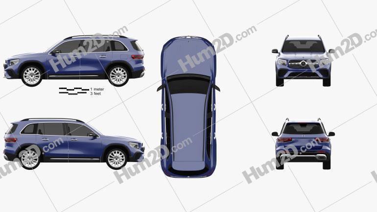 Mercedes-Benz GLB-class AMG-Line 2019 car clipart