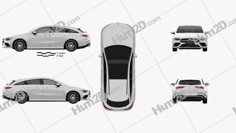 Mercedes-Benz CLA-class Shooting Brake AMG-Line 2019 car clipart