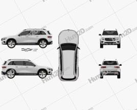 Mercedes-Benz GLB-class Edition 1 2019 car clipart