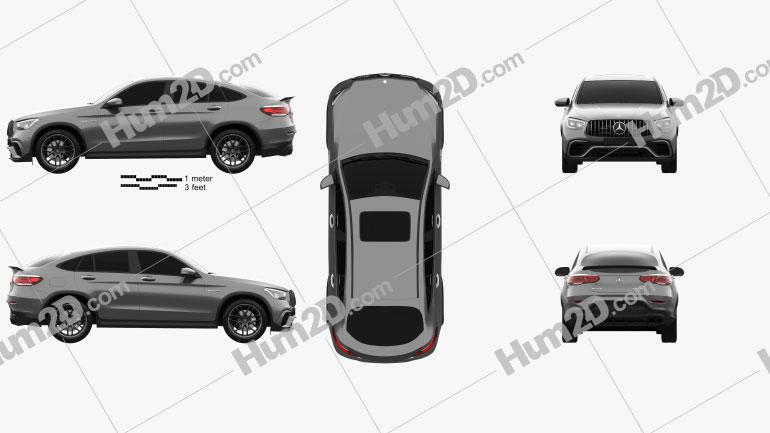 Mercedes-Benz GLC-class (C253) AMG coupe 2019 car clipart