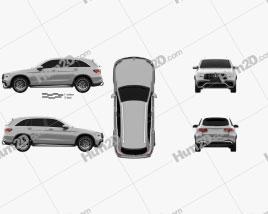 Mercedes-Benz GLC-class (X253) AMG 2019 car clipart