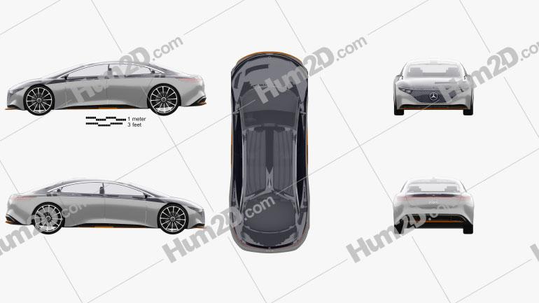 Mercedes-Benz Vision EQS 2019 car clipart